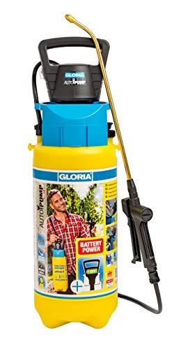 Gloria, Spruzzatore a Pressione Autopump Set, Nebulizzatore per Giardino, 5 L di Liquido Contenuto, con Funzionamento a Batteria, Nessun Pompaggio, Pressurizzazione Automatica, Getto Costante