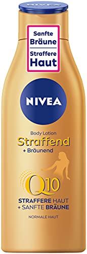 NIVEA - Lozione per il corpo tonificante + abbronzante Q10 (200 ml), trattamento per un'abbronzatura delicata con fresco profumo estivo, prodotto anti-età con Q10