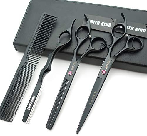 forbici per capelli da 7,0 pollici e forbici per sfoltire i capelli con pettini a rasoio in 1 set
