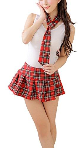 Shangrui Donne Spregiudicatezza Scottish Tartan della Biancheria Scuola Girl Costume