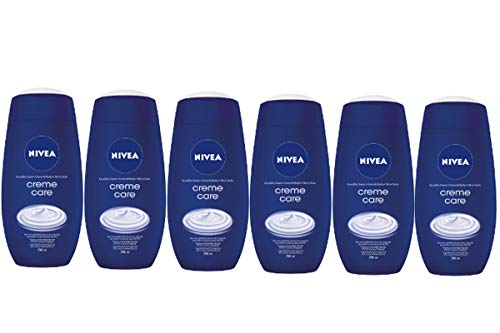 NIVEA Creme Care Docciaschiuma in Confezione da 6 x 250 ml, Bagnoschiuma Cremoso Idrantante Arricchito con Pro-Vitamine e Oli Nutrienti