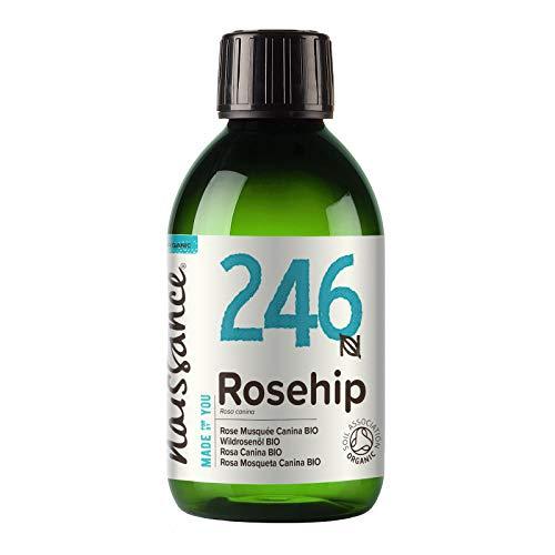 Naissance Olio di Rosa Canina Certificato Biologico 250ml – Idratante, Nutriente ed Emolliente per tutti i tipi di pelle – Utile per viso, capelli e unghie