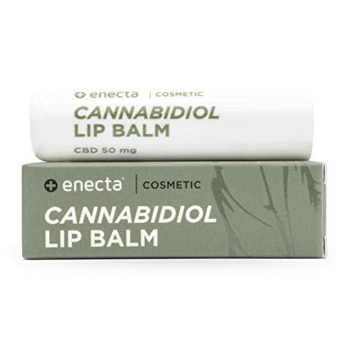 Enecta - Innovativo balsamo labbra/burrocacao all'estratto di canapa - 50 mg - Protettivo, ipoallergenico. Labbra protette naturalmente.