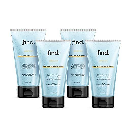 FIND - Detergente viso esfoliante per pelle normale e grassa ( 4x150 ml )
