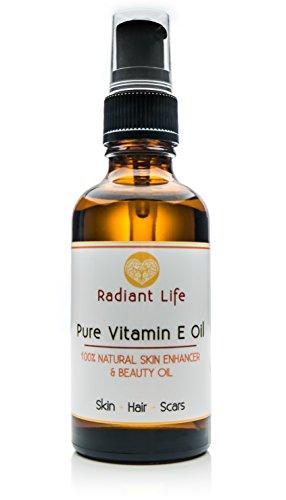 Olio di Vitamina E 100% Naturale, Olio di Bellezza Naturale con Vitamina E Radiant Life
