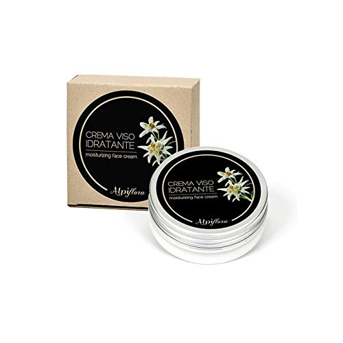 Alpiflora Crema viso idratante Naturale 50 ml all'estratto di Stella Alpina con Malva, Calendola, Camomilla, Piantaggine e Achillea.