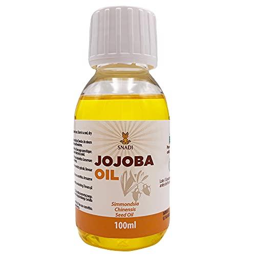 100 ml - Olio di Jojoba BIO + Spremuto a Freddo. Olio di Jojoba antiossidante, antietà. Olio idratante per il corpo. Pelle grassa e olio per capelli. Olio di Jojoba puro e naturale.