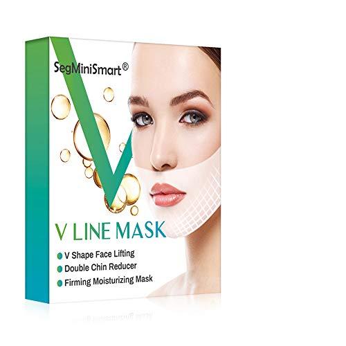 V Line Mask, V Lifting Maschera, Doppio Mento Riduttore, Faccia V-Line Chin Up, Intense Lifting a Doppio Strato Mask, Dimagrante e Ldratante per Viso, Mento, Collo e Scollatura