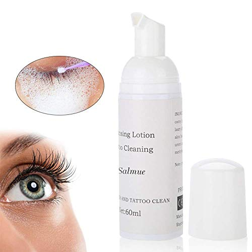 Detergente per ciglia Eyelid, 60 ml, per rimuovere le ciglia, allungare le ciglia, lavare, spruzzatore, senza olio, vegano, Detergente struccante adatto per chi soffre di allergie