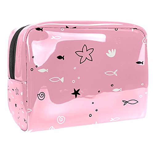Cosmetic Bag for Women Pink Unicorn Adorable Roomy Makeup Bags Travel Waterproof Toiletry Bag Accessories Organizer 7.3x3x5.1 Inch
