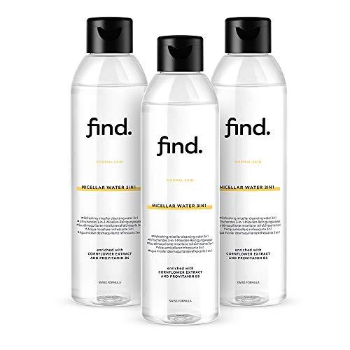 FIND - Acqua micellare 3in1 per pelle normale (3x400ml)