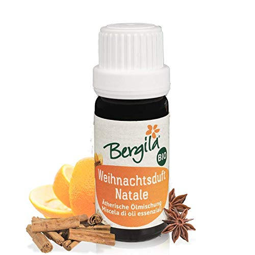 Bergila miscela oli essenziali NATALE BIO, 10 ml - 100% naturale di materia prima biologica - qualità controllata e certificata