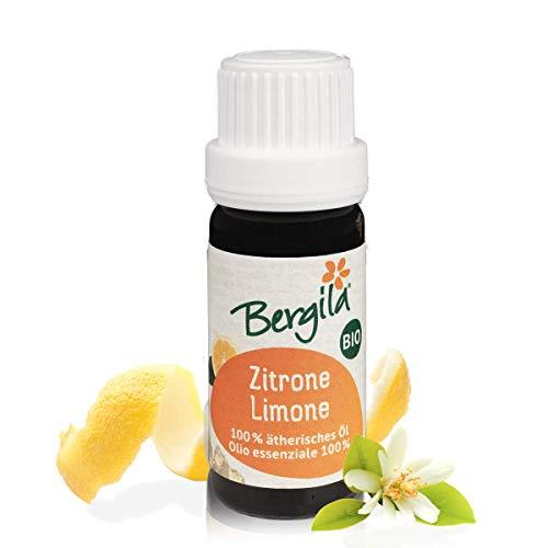 Bergila olio essenziale LIMONE BIO, 10 ml - 100% naturale di materia prima biologica - qualità controllata e certificata