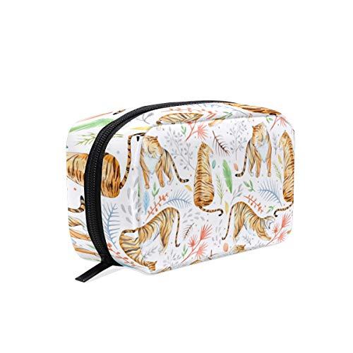 Beauty case Tiger - Beauty case da viaggio con motivo floreale, per donne e ragazze