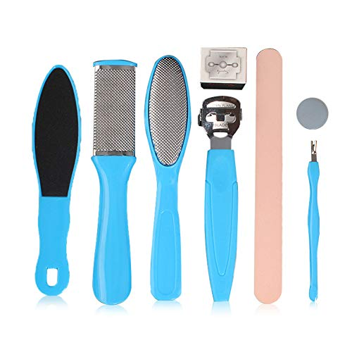 Kit per Pedicure, Kit di Strumenti per Pedicure Professionale, Lime in Acciaio Inossidabile Kit, Raspa per il Piede Cura dei Piedi Kit per Pedicure da Salone