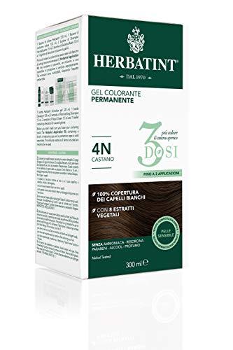 Herbatint Gel Colorante Permanente 3Dosi - 4N Castano 300ml