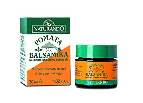 Naturando Pomata Balsamika 30 ML Lenisce i Fastidi Muscolari e i Dolori Cervicali, ideale per Massaggi