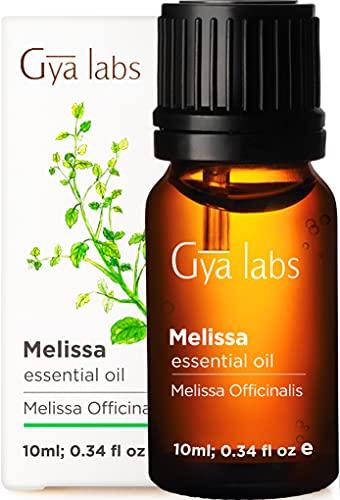 Gya Labs Olio Essenziale di Melissa per Cura Della Pelle - Olio di Melissa Puro per Rilassamento e Sonno - 100 Naturale Oli Essenziali per Diffusori Aromaterapia - 10ml