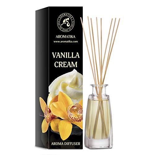 Diffusore di Aromi Crema alla Vaniglia 100ml - Diffusore a Bastoncini - Fragranza per Ambienti - Deodorante per Ambienti - Diffusore Profumato alla Crema alla Vaniglia - Regalo per Natale