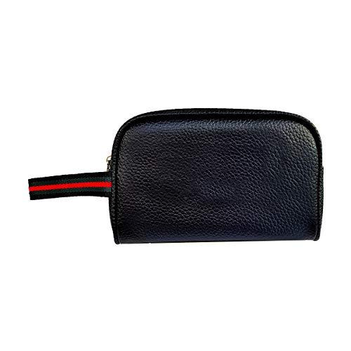 Timeshop Lab Pochette Casual borsello per donna e uomo in eco pelle sintetica con cinturino in tessuto personalizzabile con ricamo del nome ed iniziali (Senza Testo)