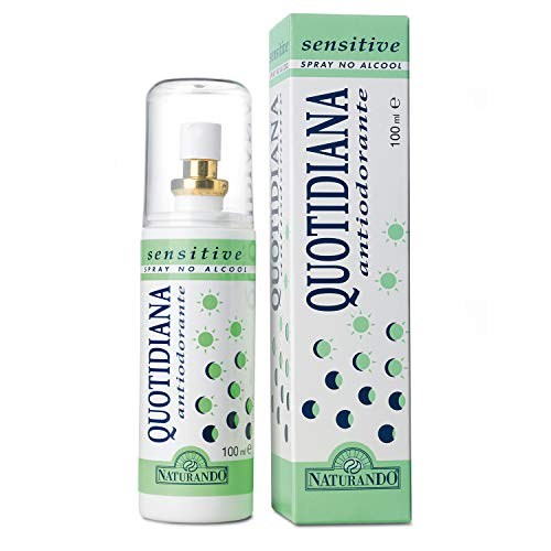 NATURANDO QUOTIDIANA ANTIODORANTE SENSITIVE SPRAY DA 100 ML Previene la formazione di cattivi odori per le pelli più sensibili