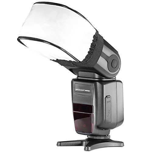 Neewer® Pro Universale Morbido Mini Bounce Softbox Flash Diffusore Cap per On-Fotocamera o Off-Fotocamera Flash Gun, per Canon 430EX II, 580EX II, 600EX-RT, Nikon SB600 SB800 SB900,SB910, Neewer TT520, TT560, TT680, TT850, TT860, Youngnuo YN560, YN565, YN568, Vivita Flash, Sunpack, Sunpak, Nissin, Sigma, Sony, Pentax, Olympus, Panasonic Lumix Flash con Custodia Flash Diffusore