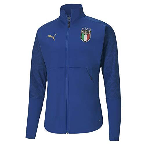 PUMA FIGC Stadium Home Jacket, Giacca Tuta Uomo, Team Power Blue Team Gold, XXL