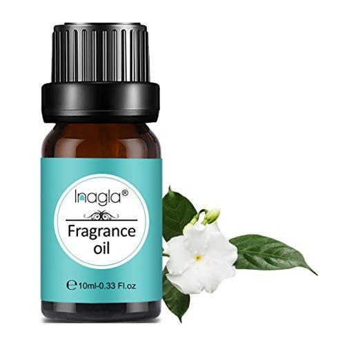 Inagla Olio di Fragranza Profumo Gardenia Fresco 100% Puro Naturale Aromaterapia 10Ml Molteplici Opzioni di Profumo