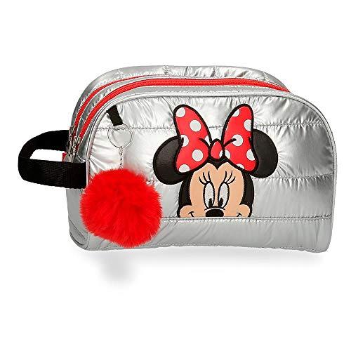 Disney Minnie My Pretty Bow Beauty case a due scomparti adattabile grigio 26 x 16 x 11 cm poliestere