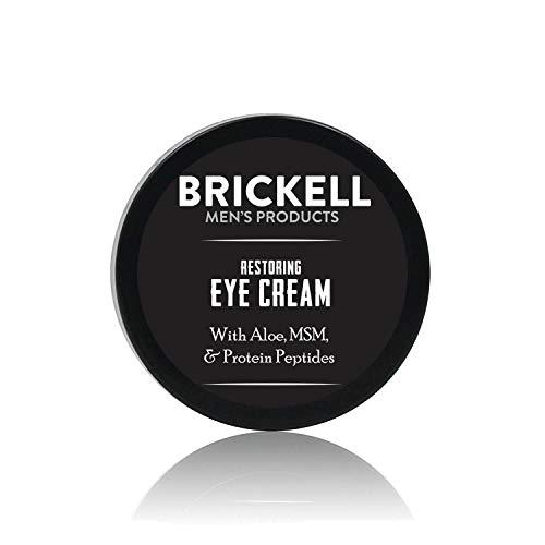 Brickell Men's Products Crema Rigenerante per Occhi, Naturale ed Organica, anti-invecchiamento, Balsamo per Occhi per ridurre il gonfiore, le rughe i cerchi neri e le borse sotto gli occhi - 5 once
