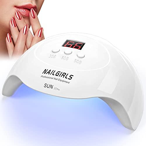 NAILGIRLS Asciuga Unghie,Lampada Nails led UV 3 Timer e Sensori Automatici 36W Fornetto Unghie Migliore Lampada Led Unghie Professionale Per Manicure/Pedicure Lampada Asciuga Smalto Semipermanente