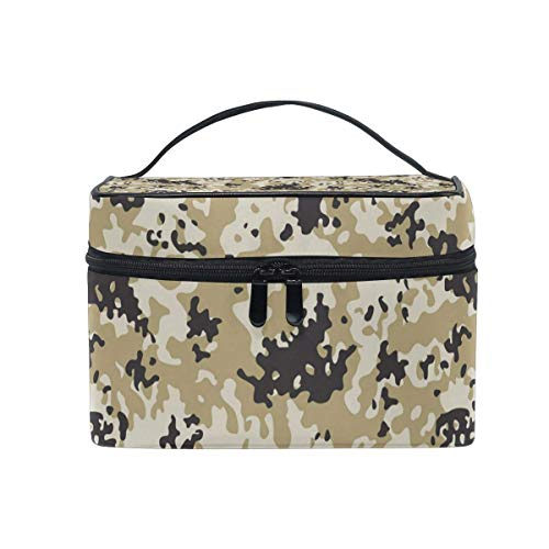 Borse per cosmetici Travel Makeup Cosmetic Bags Army Uk Desert Camo Toiletry Bags Makeup Suitcase For Women Travel Daily Carry