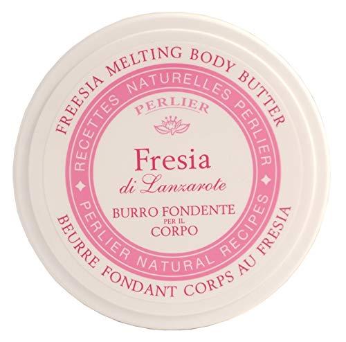 Perlier Burro Fondente Corpo Fresia, Bianco - 2 Pezzi da 200 Ml