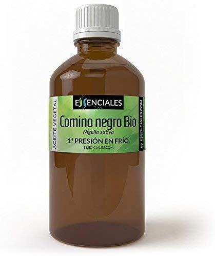 Essenciales – Olio di Cumino Nero BIO, 100% Puro e Naturale, Certificato Ecologico, 100 ml | Olio Vegetale di Nigella Sativa, 1ª Pressione a Freddo