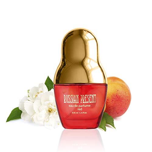 RUSSIAN PRESENT Eau de Parfum per donne, 35 ml - idea regalo per lei (RED)