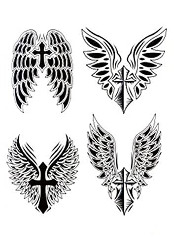 Braccio Croce Floreale 15X21cm-3Pcs Tatuaggi Temporanei Impermeabili Braccio Collo Viso Varietà Piccoli Tatuaggi Temporanei Impermeabili Per Uomo Donna Adulto
