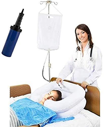 Set di 6 bagnoschiuma per letto anziano con sistema doccia per comodino, per disabili, gravidanza, letto