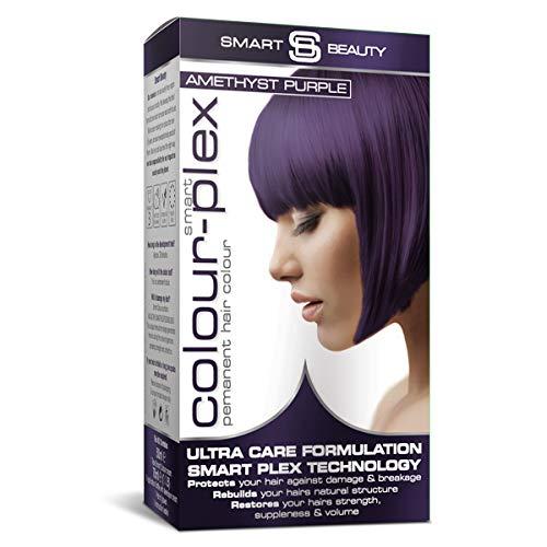 Smart Beauty Permanente Tinta Capelli, Durevole Moda Colore con Nutriente Nio-Active Plex Trattamento per Capelli, 150 ML - Ametista Viola, 150 Milliliters