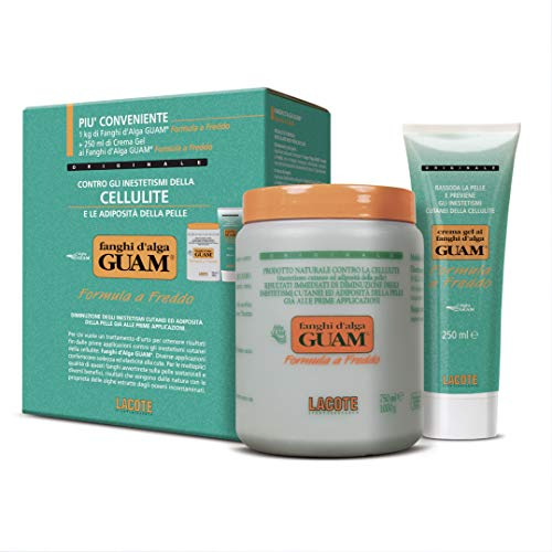 Guam Fanghi d'Alga Convenienza Freddo - set composto da 1 kg di Fanghi d'Alga Guam più 250 ml di Crema gel ai Fanghi d'Alga Guam