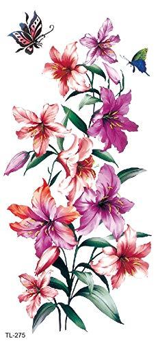 Tatuaggio a forma di fiore con giglio, per feste, tatuaggi per festival TL275