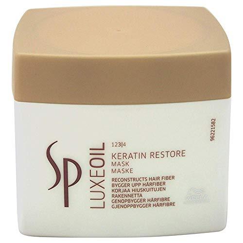 Wella Professionals - Maschera riparatrice per capelli danneggiati Luxe Oil Keratin Restore Mask, 400 ml