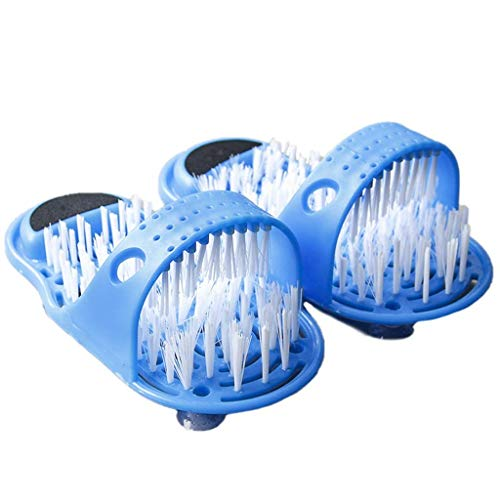 WXDP Pantofole Calde,Massaggiatore Plantare, Doccia Magica Scrubber Piedi Detergente per Piedi Spazzola per Lavatrice per Bagno Doccia Spa per Pavimento Massaggio, Pantofola per Pulizia esfolian
