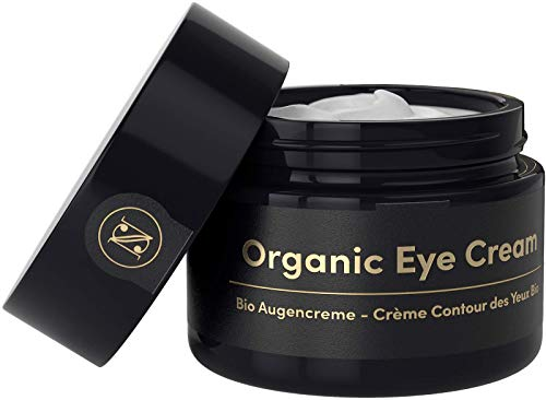 Crema Contorno Occhi Antirughe BIOLOGICO Occhiaie e Borse 30ml - Crema Antirughe Donna con Olio di Argan Aloe Vera Acido Ialuronico Vitamina E - Cosmetici Satin Naturel Made in Germany