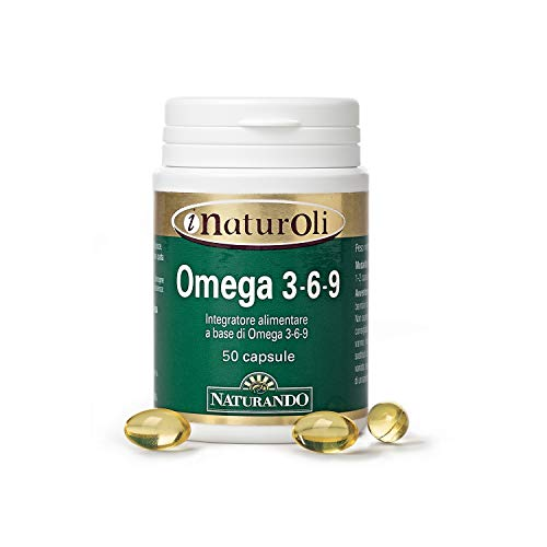 Naturando Olio di Omega 3-6-9 50 perle_ Integratore Alimentare di Acidi Grassi Essenziali Omega