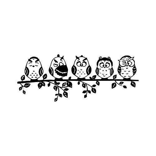 Sofà Del Salone Di Applique Del Tatuaggio Della Parete Dell'Autoadesivo Della Parete Del Ramo Sveglio Del Gufo