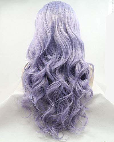 Parrucche da donna lilla viola resistente al calore Drag Queen viola pizzo frontale parrucca per donne Cosplay Festival Body Wave capelli lunghi