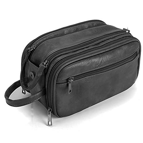 Beauty case in pelle PU impermeabile da viaggio, borsa per il lavaggio per uomo e donna, design 2021