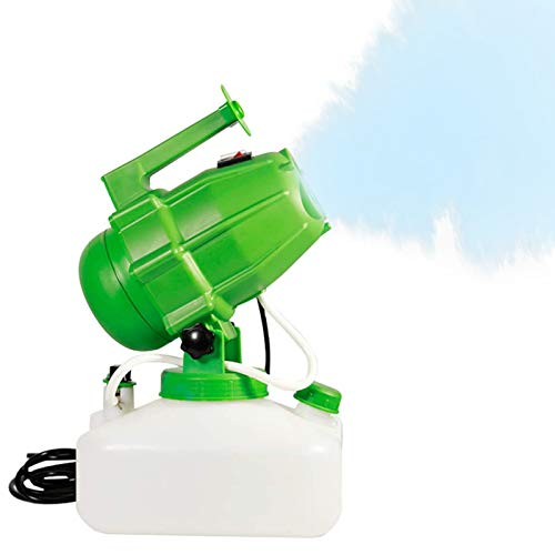 TOPQSC Spruzzatore Elettrico ULV 5L, spruzzatore Portatile per la disinfezione di Droghe per zanzare a Freddo Portatile per Interni Giardino Esterno Casa Hotel Scuola Fattoria (Verde)