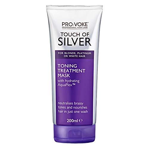 PRO:VOKE Touch of Silver Tonificante Maschera trattamento 200 ml | Balsamo viola per capelli biondi, platino, bianco o grigio, shampoo viola alternativo per bandire i toni brassy