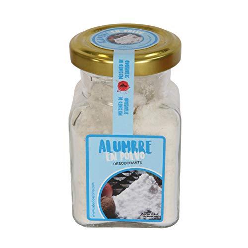 Jabón Zorro D'Avi |Deodorante per piedi Allume di Rocca in Polvere | 120 gr | Deodorante Naturale e Ecologico | Non Irrita con il Sudore | Non Macchia | Fatto in Spagna